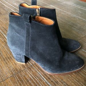 💙Madewell Navy Blue Suede Booties 8 💙